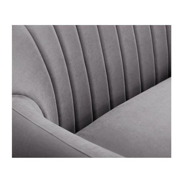 Canapea cu șezlong pe partea dreaptă Scandi by Stella Cadente Maison Comete, gri
