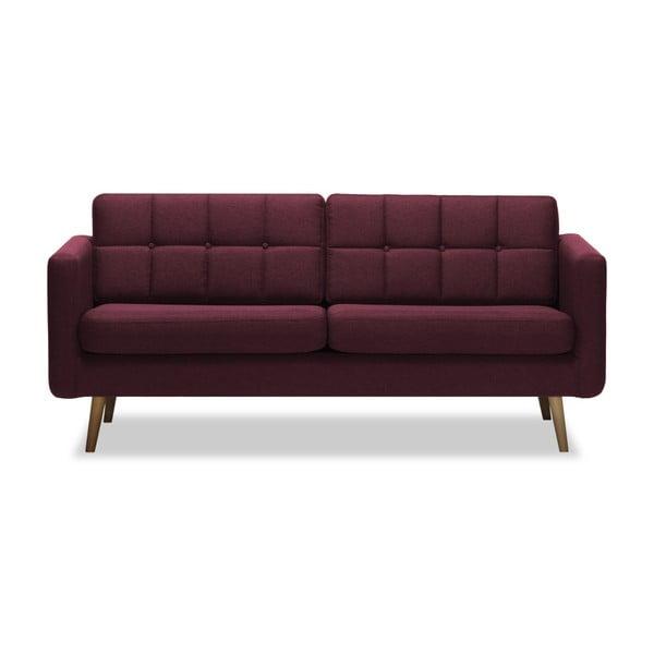 Magnus burgundi háromszemélyes kanapé - Vivonita