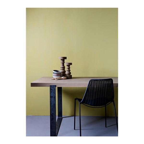 Jídelní stůl s přírodní deskou z dubového dřeva WOOOD Jamie, 90x200cm