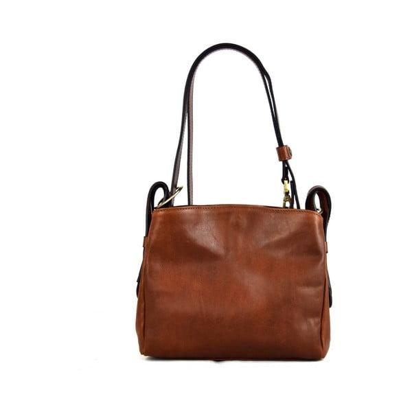 Kožená kabelka Santo Croce M6800 Brown