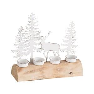 Dřevěný svícen na 4 čajové svíčky J-Line Trees