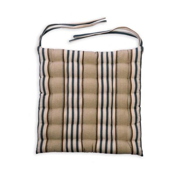 Vankúš na sedenie Garden Trading Clay Stripe, 40×40 cm
