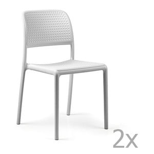 Sada 2 bílých zahradních židlí Nardi Bora Bistrot