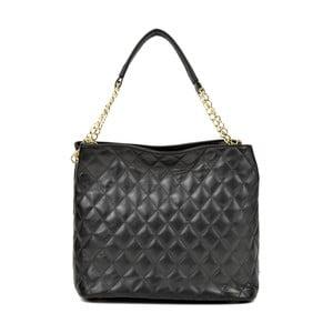 Černá kožená kabelka AnnaLuchini Rachel
