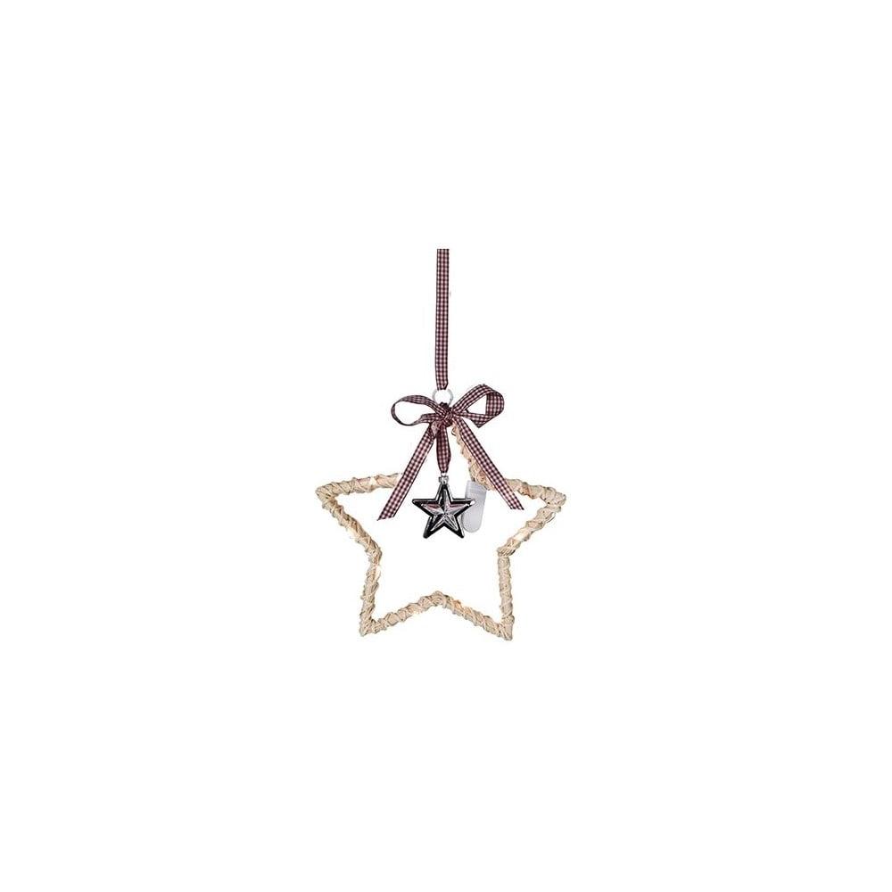 Závěsná svítící hvězda Best Season Willow Nature, ⌀ 25 cm