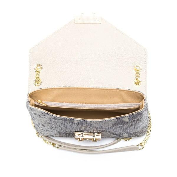 Kožená kabelka Carla Ferreri 1125 Beige Pitone