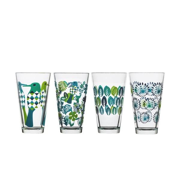 Sada 4 zelených sklenic Sagaform Fantasy, 300ml