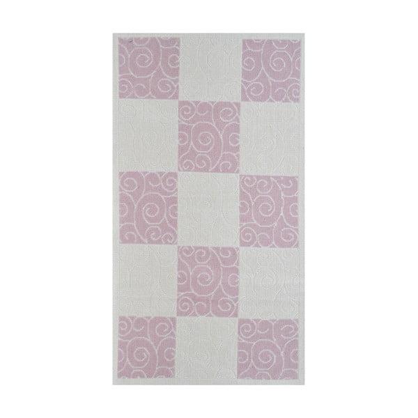 Pudrově růžový odolný koberec Vitaus Patchwork, 120x180cm