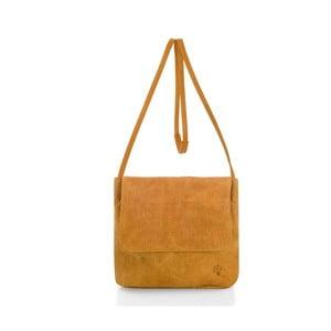 Žlutá kožená kabelka přes rameno Woox Costa