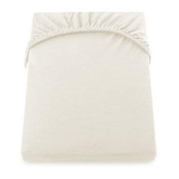 Cearșaf de pat cu elastic DecoKing Nephrite, 220-240 cm, crem imagine