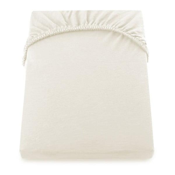 Cearșaf de pat cu elastic DecoKing Nephrite, 220-240 cm, crem