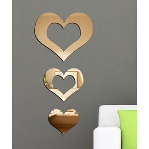 Dekorativní zrcadlo Tři srdce