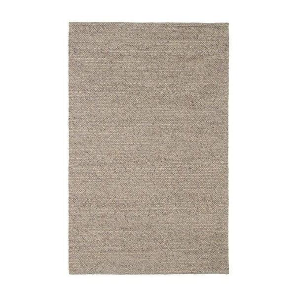Vlněný koberec Tikos White/Brown, 170x240 cm