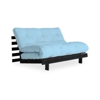 Canapea extensibilă Karup Design Roots Black/Light Blue, albastru deschis