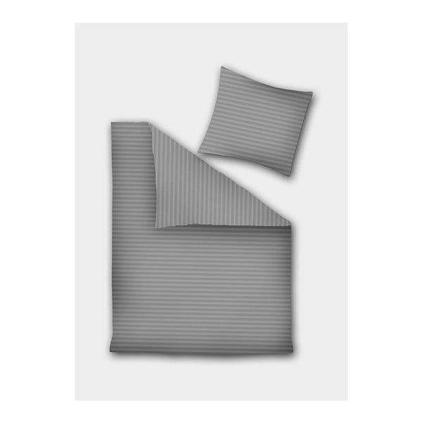 Dima szürke mikroszálas ágyneműhuzat egyszemélyes ágyhoz, 135 x 200 cm - DecoKing