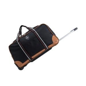 Černá cestovní taška na kolečkách GENTLEMAN FARMER Sydney, 93 l