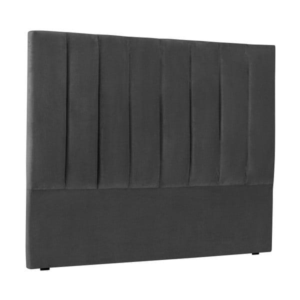 Tmavě šedé čelo postele Cosmopolitan Design Los Angeles, šířka 140cm