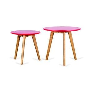 Sada 2 červených příručních stolků Design Twist Kiko