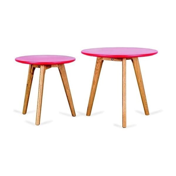 Zestaw 2 czerwonych stolików Design Twist Kiko
