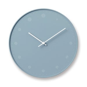 Modré nástěnné hodiny Lemnos Clock Molecule,⌀29cm
