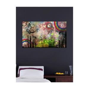 Tablou Grunge City, 41 x 70 cm