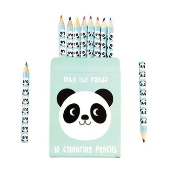 Set 10 creioane în husă cu model cu panda Rex London imagine