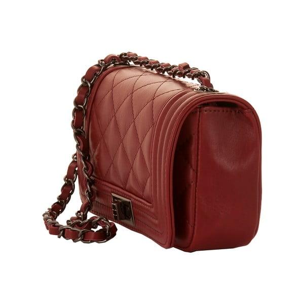 Rubínově červená kožená kabelka Andrea Cardone 2030