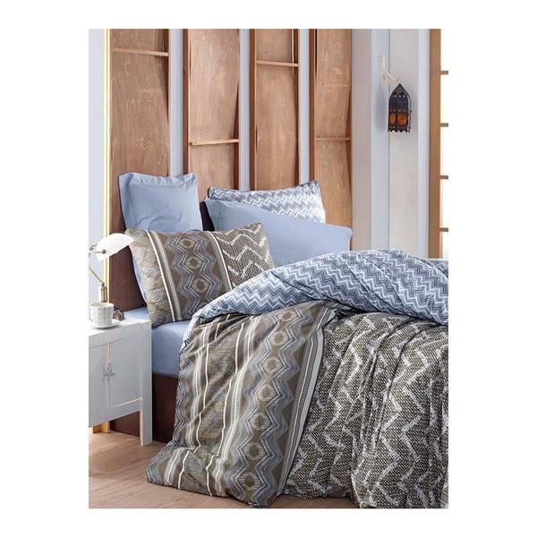 Lenjerie de pat cu cearșaf din bumbac Joy, 200 x 220 cm