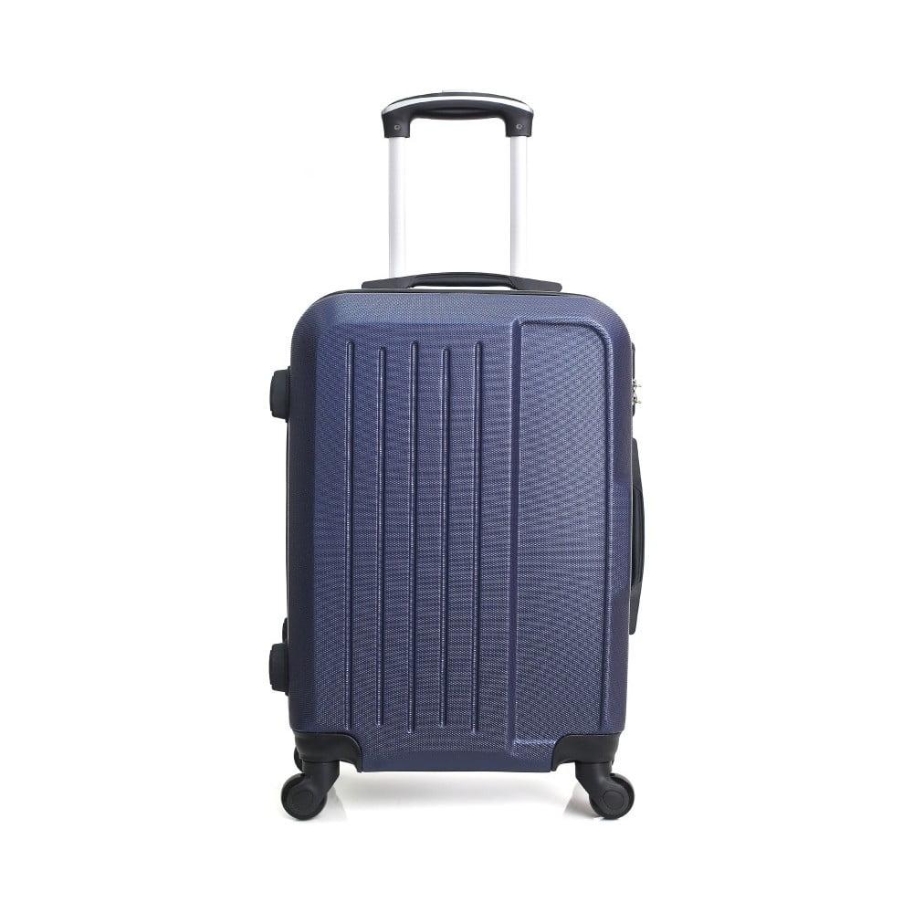 Modrý cestovní kufr na kolečkách Hero Maroko, 37 l