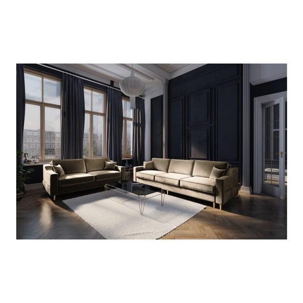 Béžová dvoumístná pohovka Mazzini Sofas Marigold