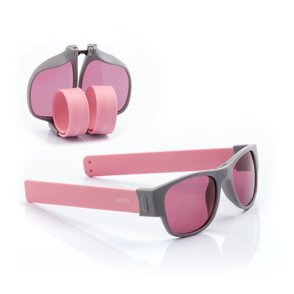 Růžové sluneční srolovatelné brýle InnovaGoods Sunfold PA1