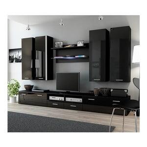 Obývací stěna Rea 3, černá