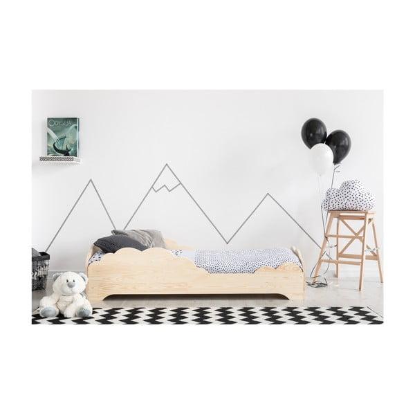 Detská posteľ z borovicového dreva Adeko BOX 9, 70×140 cm