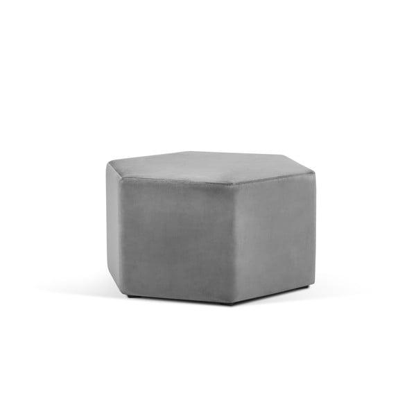Světle šedý puf Milo Casa Marina, ⌀80cm