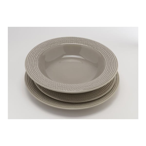 Dezertní talíř Taupe 25 cm (6 ks)