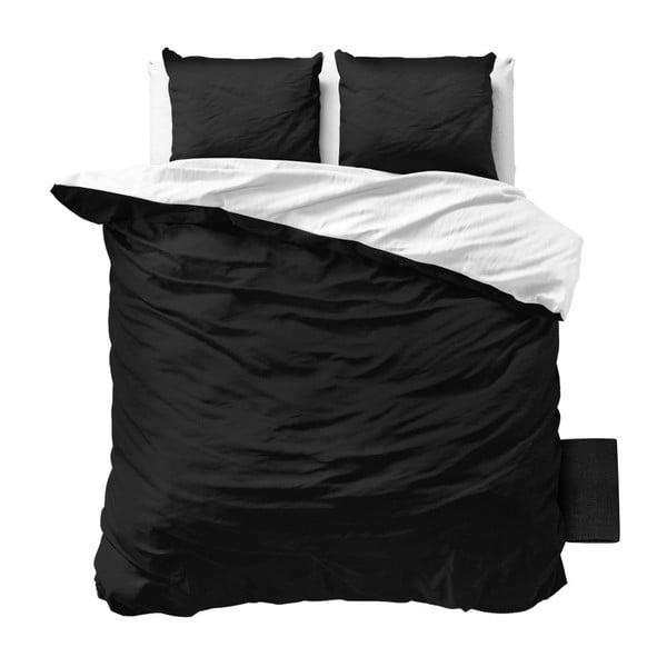Černobíle povlečení z mikroperkálu na dvoulůžko Sleeptime Twin Face, 200 x 220 cm