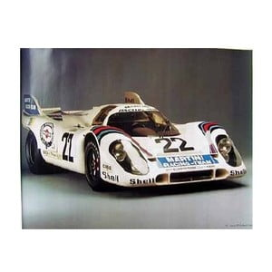 Plakát Martini Racing Team 917 Kurzheck Coupé, 82x58 cm
