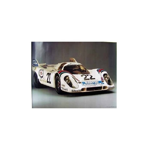 Plakát Martini Racing Team 917 Kurzheck Coupé, 82x58 cm