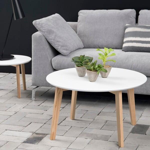 Odkládací stolek Molina ⌀80 cm, bílý