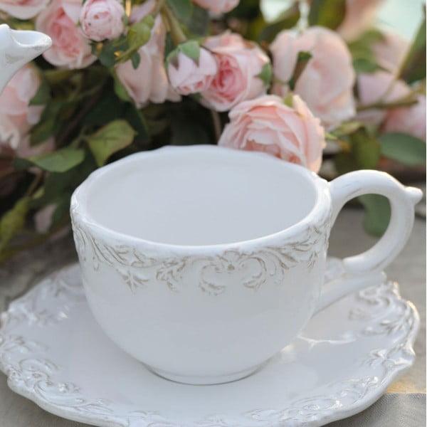 Hrnek na čaj s podšálkem Romantica