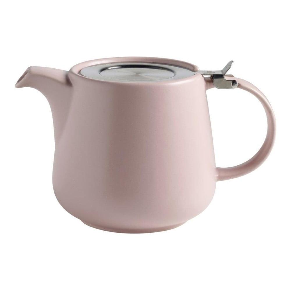 Růžová keramická konvice se sítkem na sypaný čaj Maxwell & Williams Tint, 1,2 l
