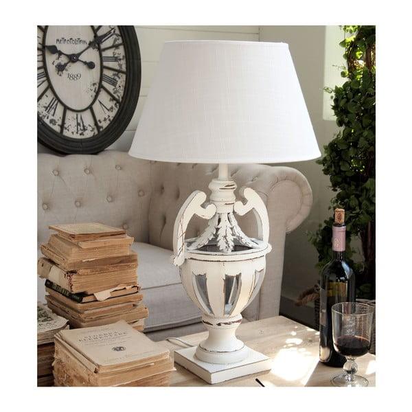 Stolní lampa Shabby White, 69 cm