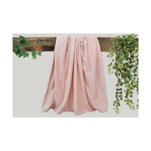 Pudrově růžová deka Dolce Bonita Embos, 200 x 135 cm
