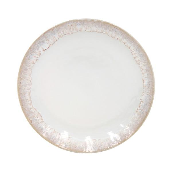Biały talerz deserowy z kamionki Casafina Taormina, ⌀ 22 cm