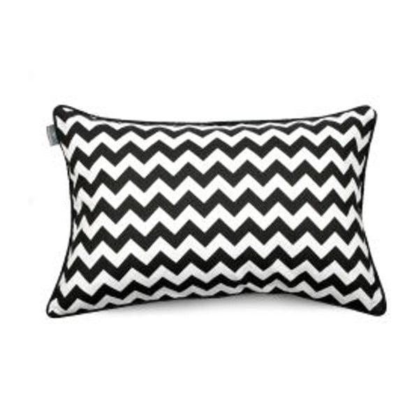 Čierno-biela obliečka na vankúš WeLoveBeds Zig Zag, 40 × 60 cm