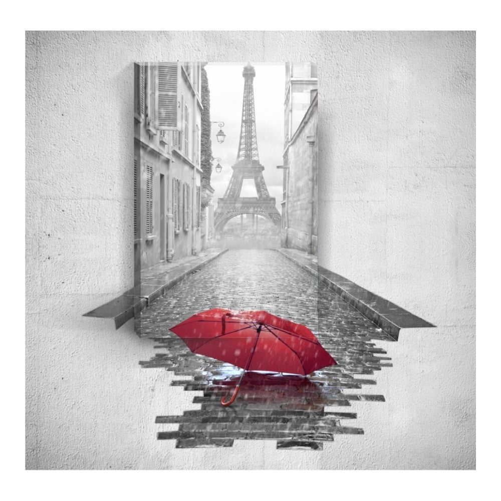 Nástěnný 3D obraz Mosticx Red Umbrella In Paris 40 x 60 cm