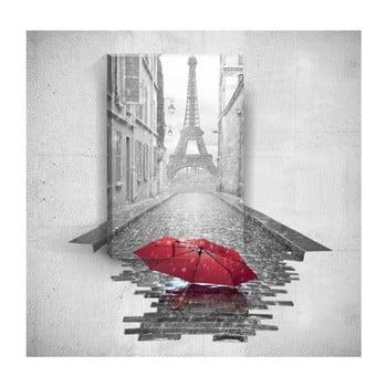 Tablou de perete 3D Mosticx Red Umbrella In Paris, 40 x 60 cm de la Mosticx
