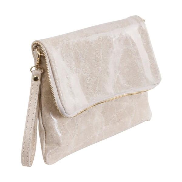 Béžová kabelka z pravé kůže Andrea Cardone Fiore