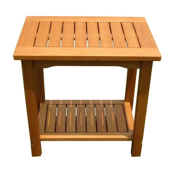 Záhradný odkladací stolík z eukalyptového dreva ADDU Santa Cruz