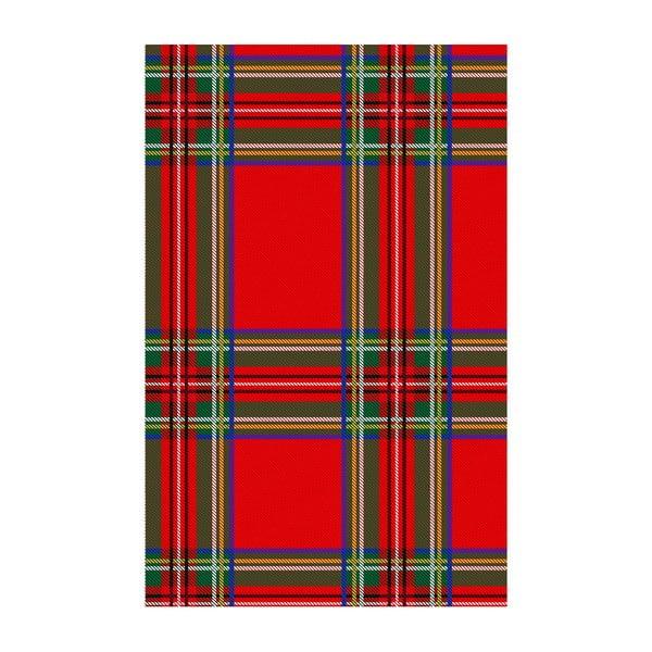 Koberec z vinylu Tartan Rojo,100x150 cm
